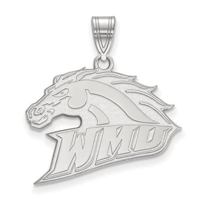 Picture of Western Michigan University Broncos Sterling Silver Large Pendant
