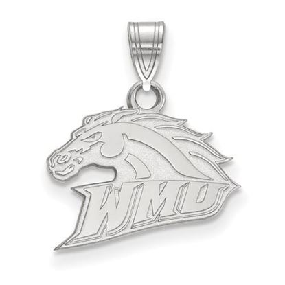 Picture of Western Michigan University Broncos Sterling Silver Small Pendant