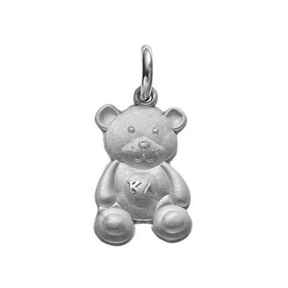 Picture of Kappa Delta Sorority Sterling Silver Teddy Bear Charm