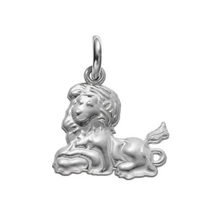 Picture of Phi Mu Sorority Sterling Silver Lion Charm