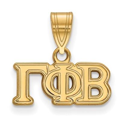 Picture of Gamma Phi Beta Sorority Sterling Silver Gold Plated Medium Pendant