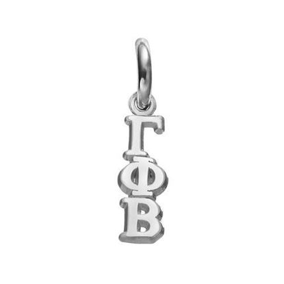 Picture of Gamma Phi Beta Sorority Sterling Silver Vertical Letters Pendant