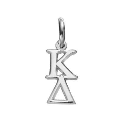 Picture of Kappa Delta Sorority Sterling Silver Vertical Letters Pendant