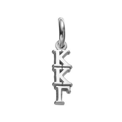 Picture of Kappa Kappa Gamma Sorority Sterling Silver Vertical Letters Pendant