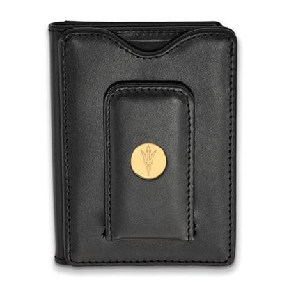Picture of Arizona State University Sun Devils Sterling Silver Gold Plated Leather Wallet