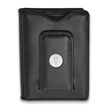 Picture of Arizona State University Sun Devils Sterling Silver Leather Money Clip Wallet