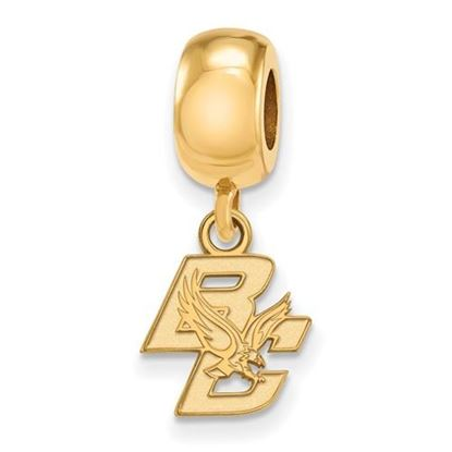 Picture of Boston College Eagles Sterling Silver Gold Plated Extra Small Dangle Bead Charm
