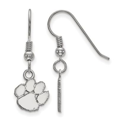 Picture of Clemson University Tigers Sterling Silver Extra Small Dangle Earrings