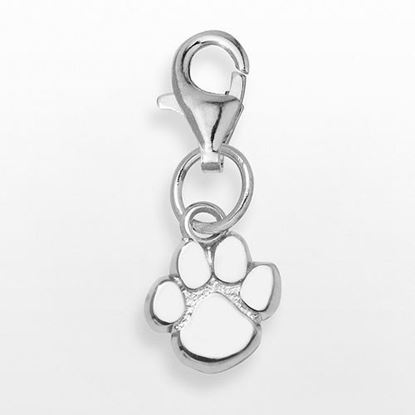 Picture of Clemson University Tigers Sterling Silver Paw Charm Pendant