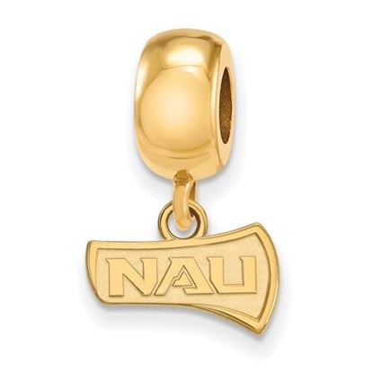 Picture of Northern Arizona University Lumberjacks Sterling Silver Gold Plated Dangle Charm Bead