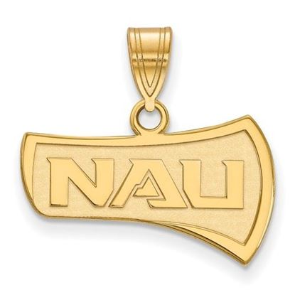 Picture of Northern Arizona University Lumberjacks Sterling Silver Gold Plated Medium Pendant