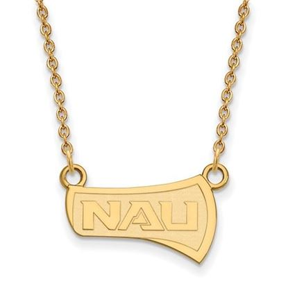 Picture of Northern Arizona University Lumberjacks Sterling Silver Gold Plated Small Necklace