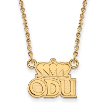 Picture of Old Dominion University Monarchs Sterling Silver Gold Plated Small Necklace