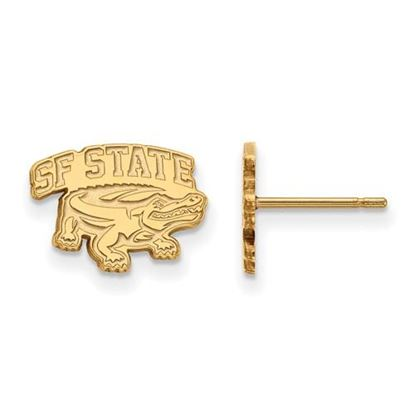 Picture of San Francisco State University Gators Sterling Silver Gold Plated Extra Small Post Earrings