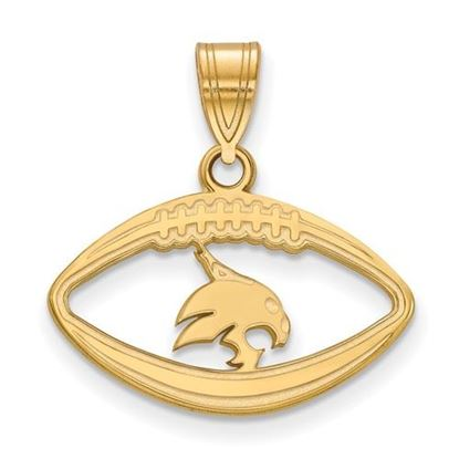 Picture of Texas State University Gold Plated Football Pendant