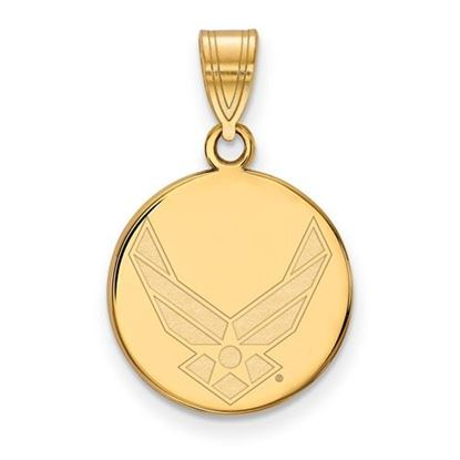 Picture of U.S. Air Force Academy Falcons Sterling Silver Gold Plated Medium Disc Pendant