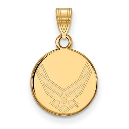 Picture of U.S. Air Force Academy Falcons Sterling Silver Gold Plated Small Disc Pendant