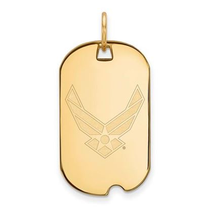 Picture of U.S. Air Force Academy Falcons Sterling Silver Gold Plated Small Dog Tag