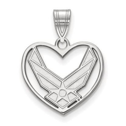 Picture of U.S. Air Force Academy Falcons Sterling Silver Heart Pendant