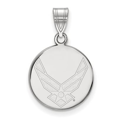 Picture of U.S. Air Force Academy Falcons Sterling Silver Medium Disc Pendant