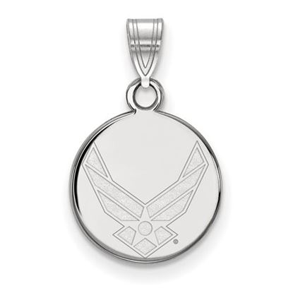 Picture of U.S. Air Force Academy Falcons Sterling Silver Small Disc Pendant