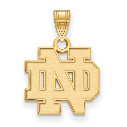 Picture of University of Notre Dame Fighting Irish Sterling Silver Gold Plated Small Pendant