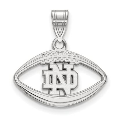 Picture of University of Notre Dame Fighting Irish Sterling Silver Football Pendant