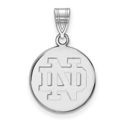 Picture of University of Notre Dame Fighting Irish Sterling Silver Medium Disc Pendant