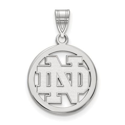 Picture of University of Notre Dame Fighting Irish Sterling Silver Small Circle Pendant