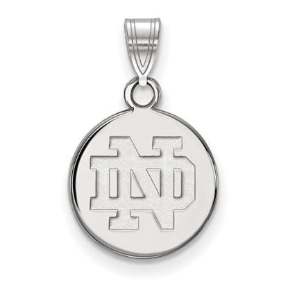 Picture of University of Notre Dame Fighting Irish Sterling Silver Small Disc Pendant