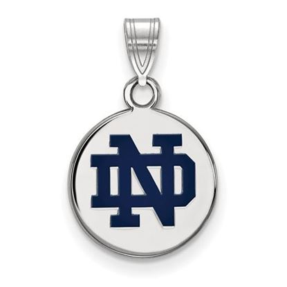 Picture of University of Notre Dame Fighting Irish Sterling Silver Small Enamel Disc Pendant