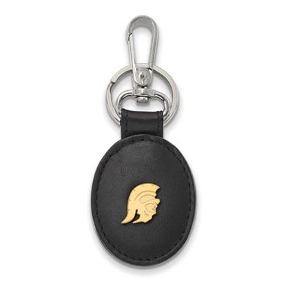 Picture of University of Southern California Gold Plated Leather Attachment