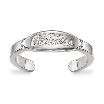 Mississippi Rebels Sterling Silver Ole Miss Toe Ring