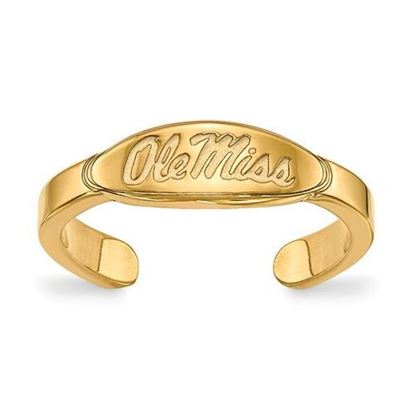 Mississippi Rebels Gold Plated Ole Miss Toe Ring