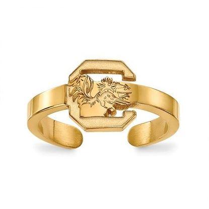 South Carolina Gamecocks Gold Plated Toe Ring