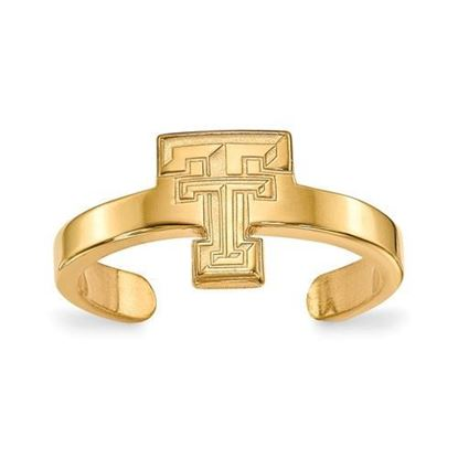 Texas Tech Red Raiders Gold Plated Toe Ring