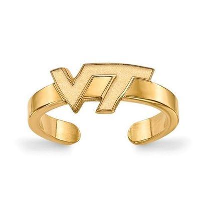 Virginia Tech Hokies Gold Plated Toe Ring