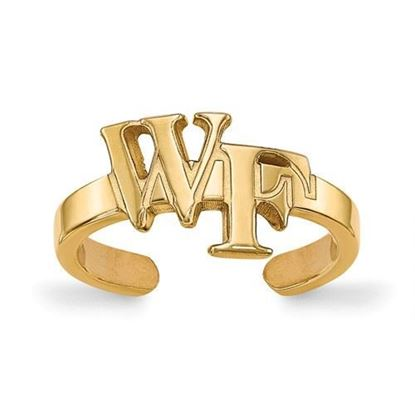 Wake Forest Demon Deacons Gold Plated Toe Ring