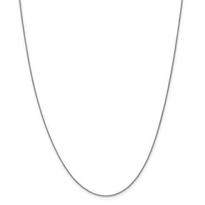 18 Inch 10k White Gold Spiga Chain