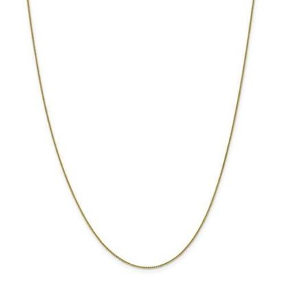 18 Inch 10k Yellow Gold Spiga Chain