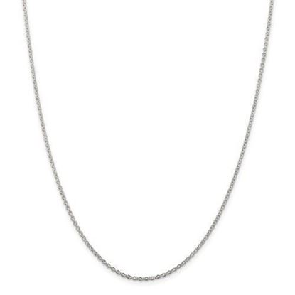 18 Inch Sterling Silver 1.95 mm Cable Chain