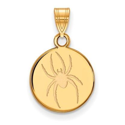 University of Richmond Sterling Silver Gold Plated Medium Disc Pendant