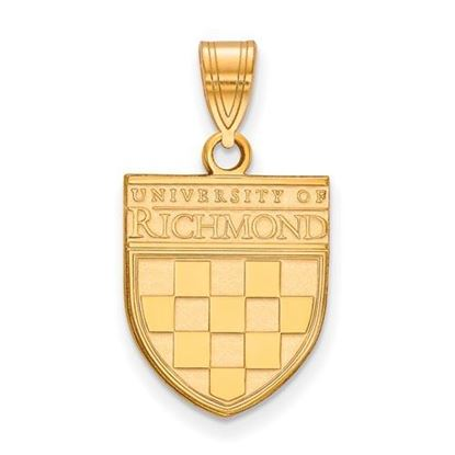 University of Richmond Sterling Silver Gold Plated Medium Pendant