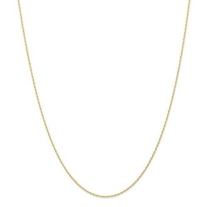 18 Inch 10k Yellow Gold .7mm Cable Rope Chain