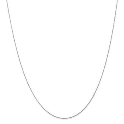 18 Inch 10k White Gold .7mm Cable Rope Chain