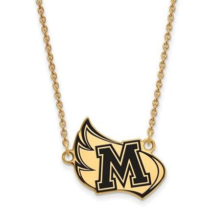 Meredith College Avenging Angels Sterling Silver Gold Plated Large Enameled Necklace