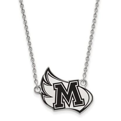 Meredith College Avenging Angels Sterling Silver Large Enameled Necklace